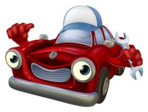 Glad och pigg bil [Tecknat]